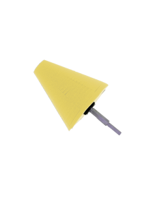 Polijstcone YELLOW Medium-Heavy Cutting 100 mm