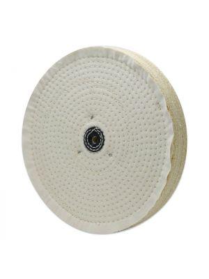 Sisal Katoenschijf diameter 350x50x10 +leer asgat