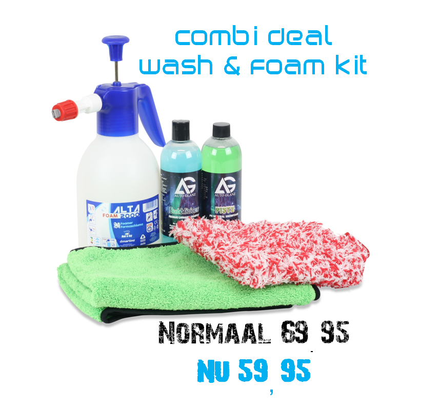 Wash and foam kit